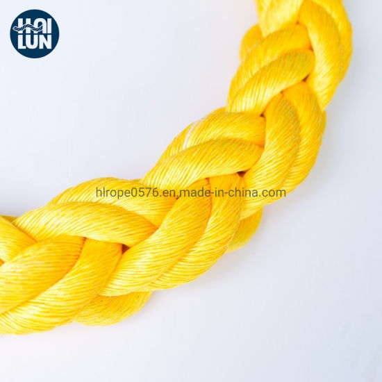China Factory 3/8/12 Strand Polypropylene Rope for Fishing and Mooring