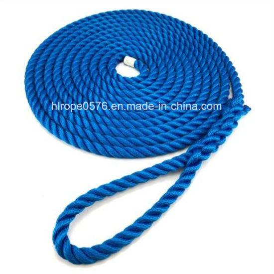 3 Strands 16mm Royal Blue Softline Multifilament Mooring Rope
