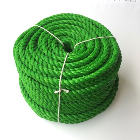 8mmx50m Green Twisted Polypropylene Rope Floating PP Rope Boat Rope Sailing Camping Secure Line Clothes Line