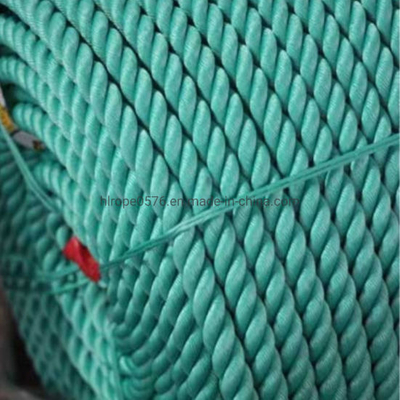 Blue or Green Color 3 Strand Twisted PP/PE Rope for Fishing Marine