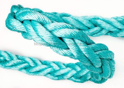 Green Blue Color 8 Strand Nylon Polypropylene Dan Line Mooring Rope