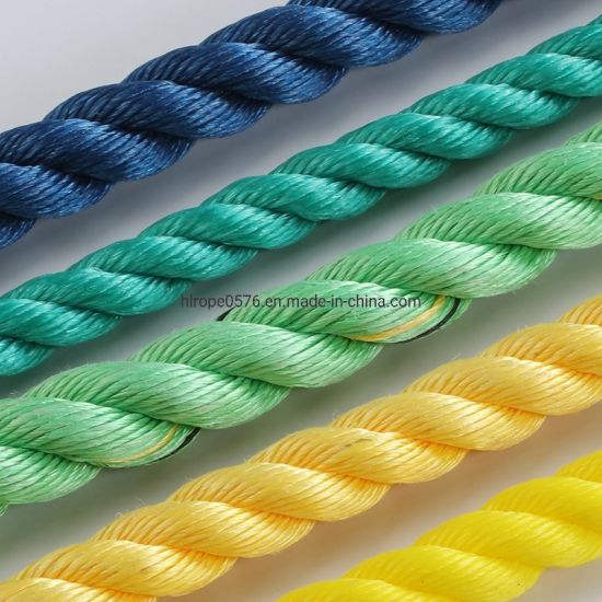 3 Strand Green PP Rope for Mooring and Marine
