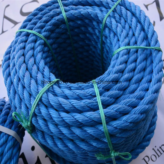 Good Quality 3strand Blue PP Rope for Mooring and Fishing