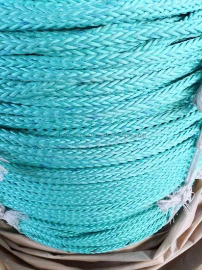 3-Strand Polypropylene Danline Rope Green Mark Line Black
