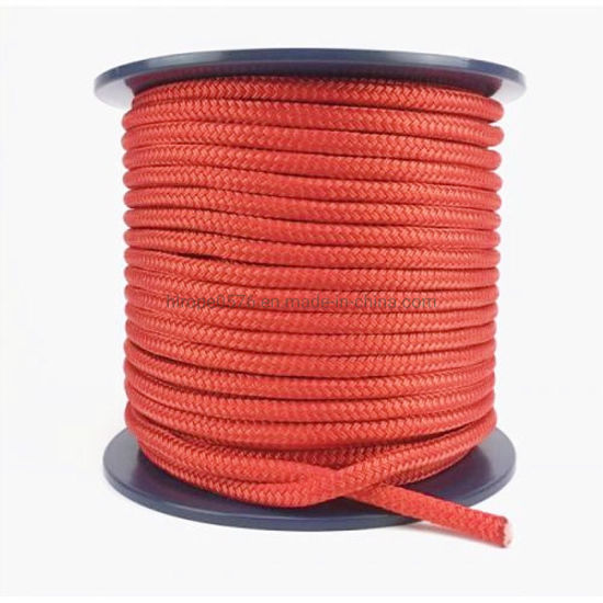 12mm Red Double Braid Polyester Rope - on a Reel 100 Metres