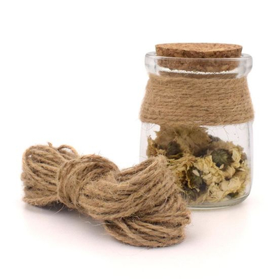 Natural Jute Rope 1mm Soft 1-100m Natural Textured Hessian Jute Twine
