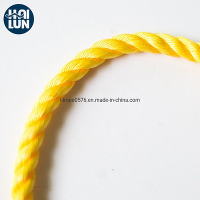 3-Strand Yellow Polypropylene Rope for Fishing and Marine