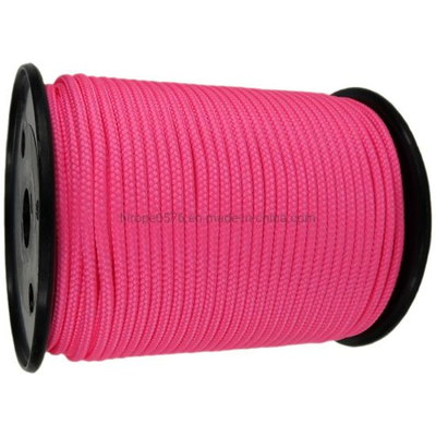 6mm Neon Pink Braided Polypropylene Polyester Multicord