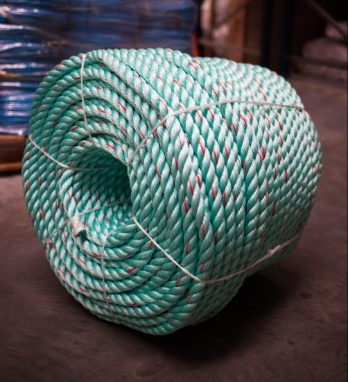 8mm Green with Red Flecks Polysteel Rope (220m Coil)