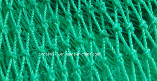 Polyethylene Twisted Green Knotted or Knotless Boad Fishing Net