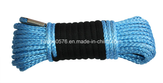 Blue UHMWPE Inch Inside Polyester Outside Cover Rope Lifting Rope