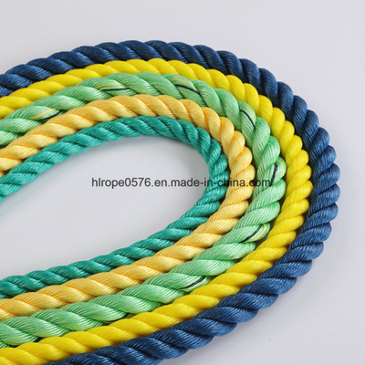 3 Strand Braided Polypropylene Rope PP Danline Rope Marine Rope for Fishing and Mooring
