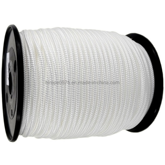 4mm 8-Ply White Braided Polyester Cord X 200m