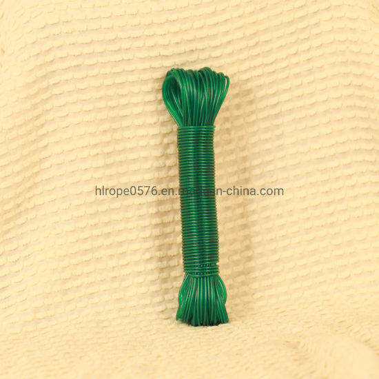 PVC + High - Strength Polyester Yarns Clothesline for Outdoor Use