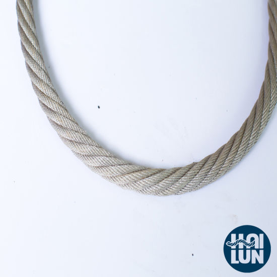 Grey 3 Strands PP Combination Wire Boad Rope