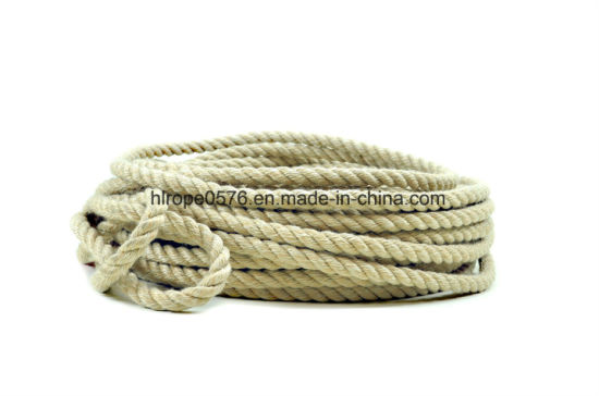 Sisal Jute Three Strands of Rope Mooring Rope