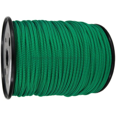 4mm Green Braided Polyestercord X 200m