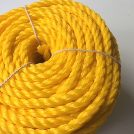 8mmx50m Heavy Duty Twisted Polypropylene Rope Floating PP Rope Boat Rope Sailing Camping Secure Line Plastic Rope