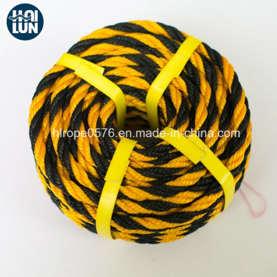 High Quality PE Twist 3-Strand Rope for Mooring and Fishing