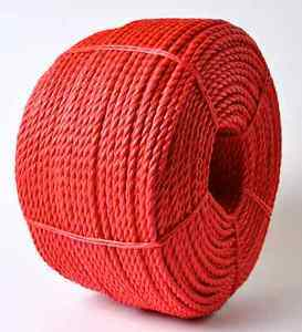 3 Strand Red PP Rope Polypropylene Rope for Mooring