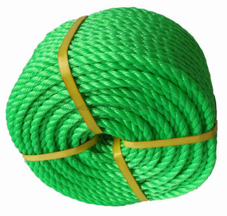 PE Rope-3 Strands Green Cords Fishing Plastic Rope